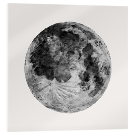 Acrylic glass  Watercolour Moon (canvas) - Sophie Schultz