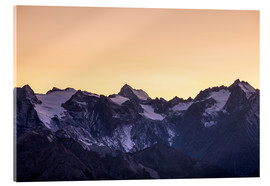 Acrylic print  Massif des Ecrins glaciers at sunset, the Alps - Fabio Lamanna