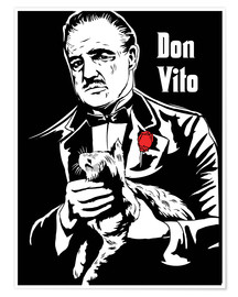 Premium poster Don Vito Corleone the godfather art print
