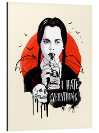 Alu-Dibond  Wednesday Addams - 2ToastDesign