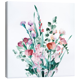 Canvas print  Spring Bouquet - Goed Blauw