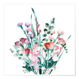 Poster  Spring Bouquet - Goed Blauw