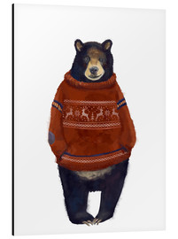 Alu-Dibond  Mr. Bär in Norwegian sweater - Kidz Collection