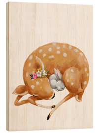 Wood  Fawn and baby bunny - Kidz Collection