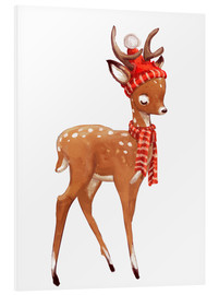 Forex  Winter deer with scarf and hat - Kidz Collection