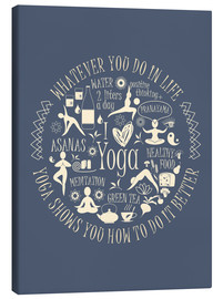 Canvas print  Yoga - my world II