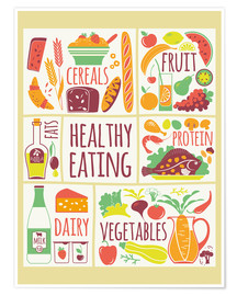 Poster  To eat healthy food