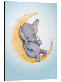 Aluminium print  Elephant in the moon - Kidz Collection