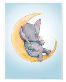 Premium poster Elephant in the moon