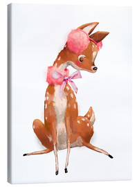 Canvas  Fawn in pink - Kidz Collection