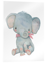 Acrylic print  My little elephant - Kidz Collection