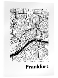 Acrylic glass  City map of Frankfurt - 44spaces