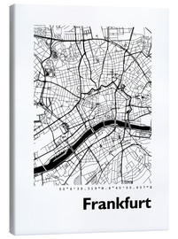 Canvas  City map of Frankfurt - 44spaces