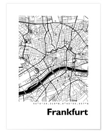 Premium poster  City map of Frankfurt - 44spaces