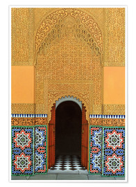 Premium poster Door, Marrakech