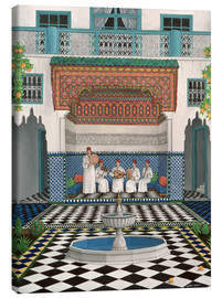 Canvas print  A Riad in Marrakech - Larry Smart
