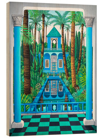 Wood print  Marjorelle Reflections - Larry Smart
