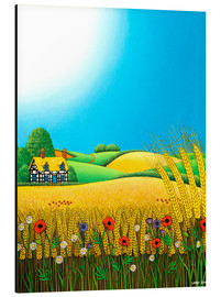 Aluminium print  Sussex Wheatfields - Larry Smart