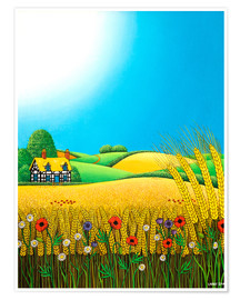 Premium poster Sussex Wheatfields