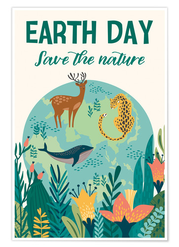 Premium poster Nature conservation design