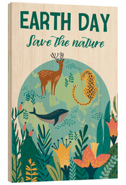 Wood print  Nature conservation design - Kidz Collection