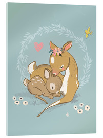 Acrylic print  Fawn mother and child - Kidz Collection