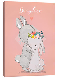 Canvas print  Be my love bunny - Kidz Collection