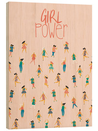 Wood print  Girl power