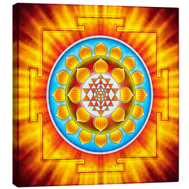 Canvas print  Sri Yantra - Artwork XV - Dirk Czarnota