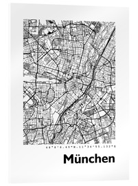 Acrylic print  City map of Munich - 44spaces