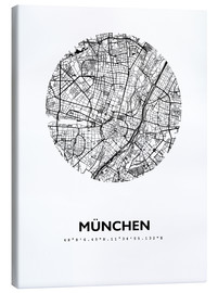 Canvas print  City map of Munich - 44spaces