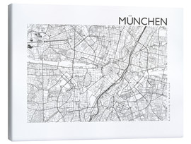 Canvas  City map of Munich - 44spaces