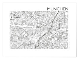 Premium poster City map of Munich