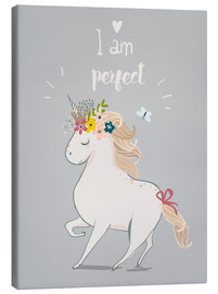 Canvas  Perfect little unicorn - Kidz Collection