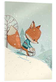 Acrylic glass  Fox with sledge - Kidz Collection