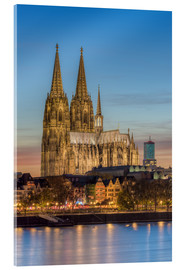 Acrylic glass  The Cologne Cathedral in the evening - Michael Valjak