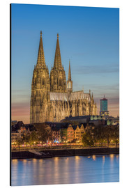 Aluminium print  The Cologne Cathedral in the evening - Michael Valjak