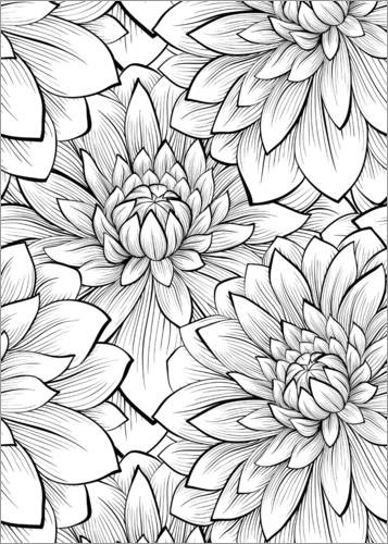Colouring posters Petals detail