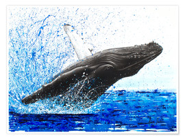 Premium poster Dance of the whales