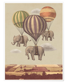 Premium poster Flight of the elephants