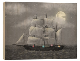 Wood print  Ghost ship - Terry Fan