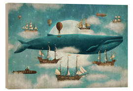 Wood print  Where the ocean meets the sky - Terry Fan