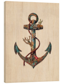Wood print  Reef anchor - Terry Fan
