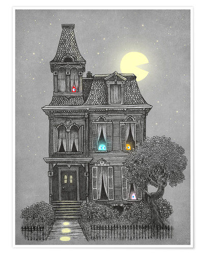 Premium poster Haunted house