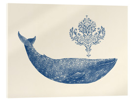 Acrylic print  A whale from Damask - Terry Fan