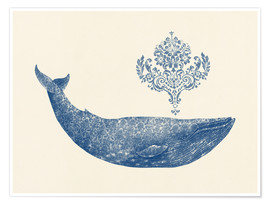 Premium poster  A whale from Damask - Terry Fan