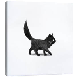 Canvas print  Little black cat - Terry Fan