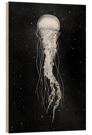 Wood print  space jelly - Terry Fan