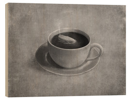 Wood print  Whale in a teacup - Terry Fan