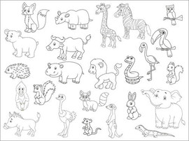Colouring posters  Zoo Parade